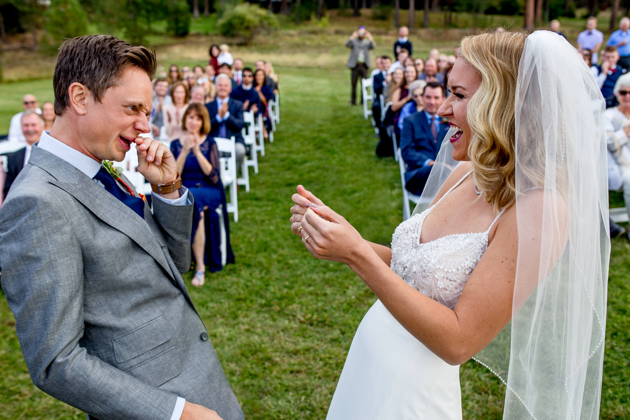 Bride and Groom humorous ceremony moment