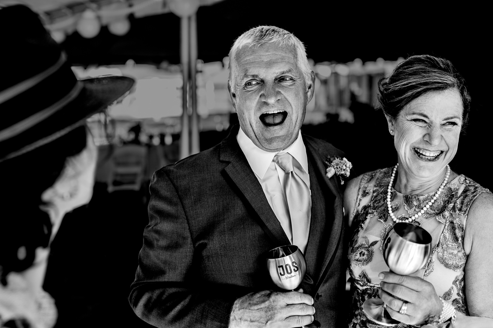 Parents of the Bride at Oregon Wedding