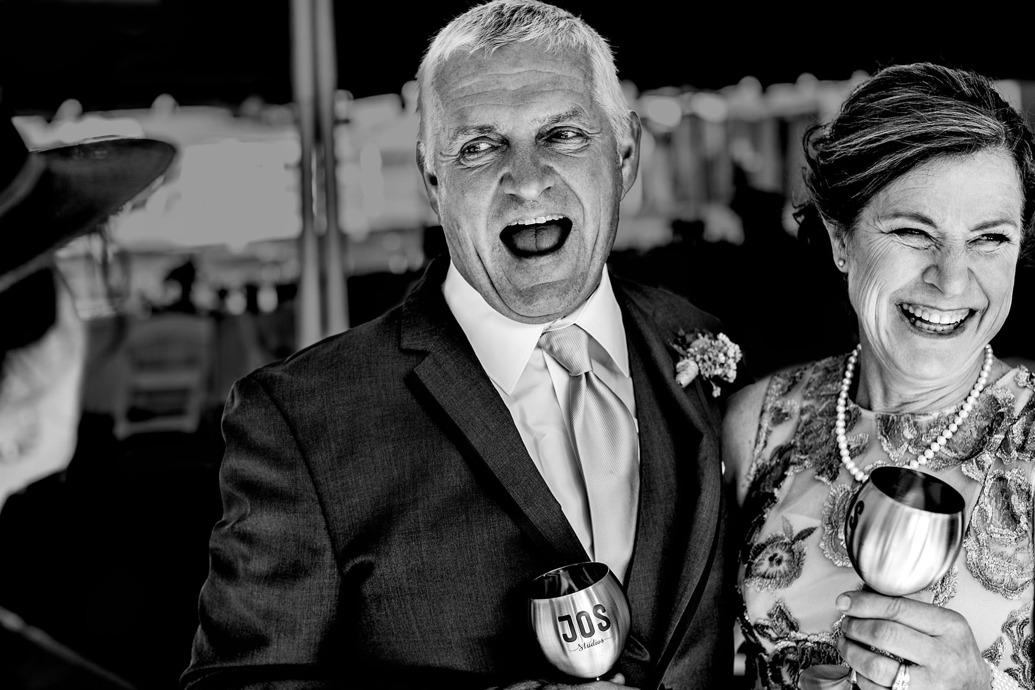 Parents of the bride at Oregon Wedding outside Portland