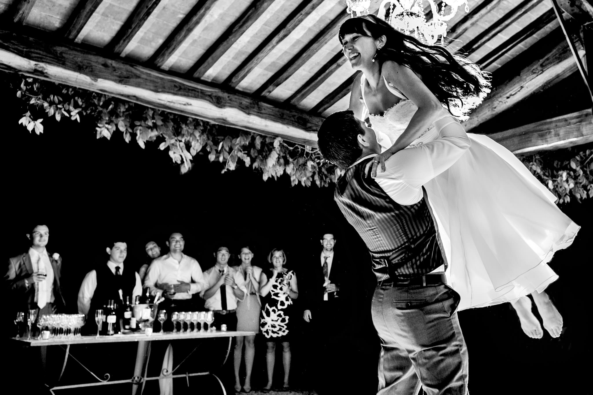 First dance with Bride and Groom in Umbria Italy near Todi