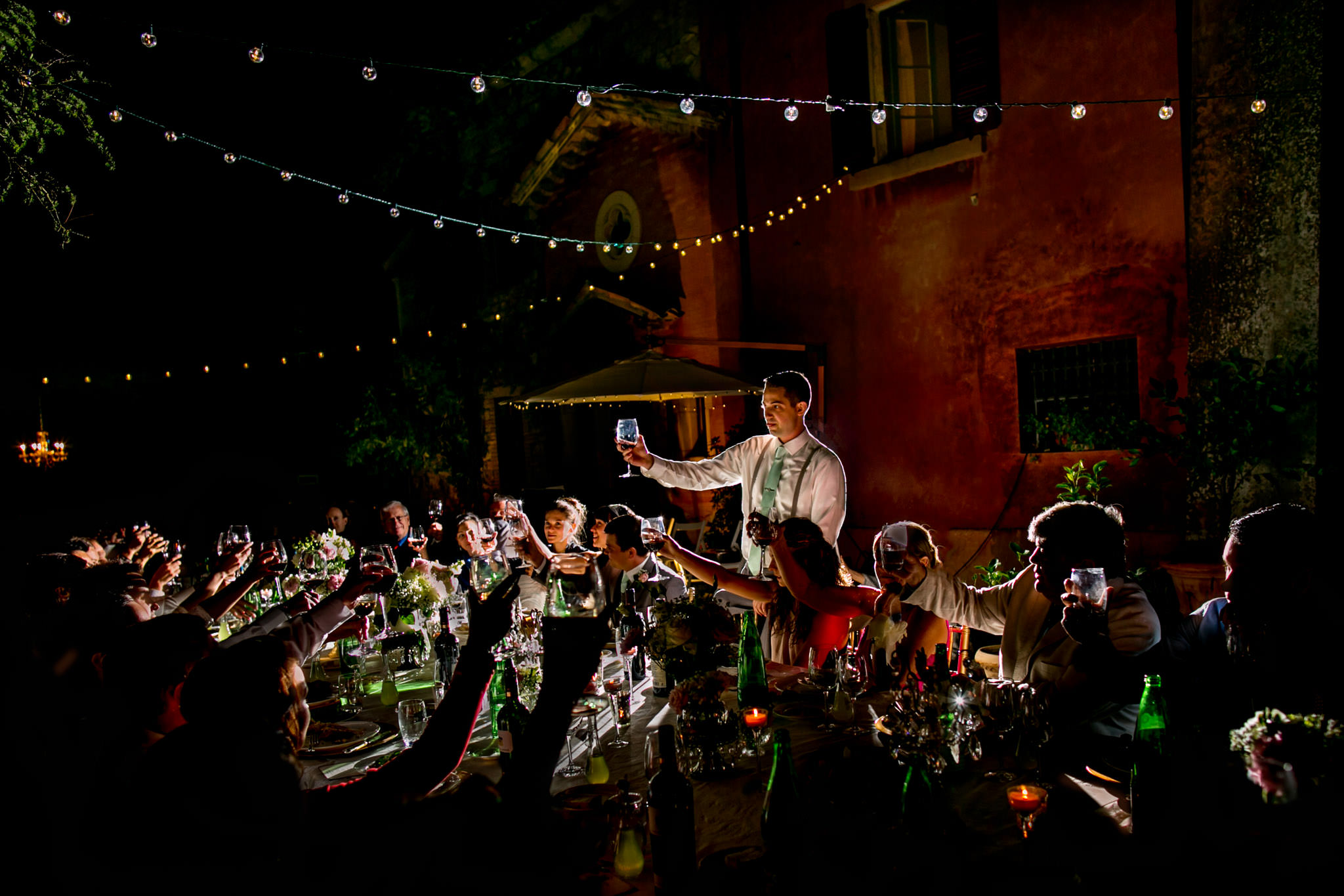 Best man speech in Umbria Italy at Villa Tre Grazie
