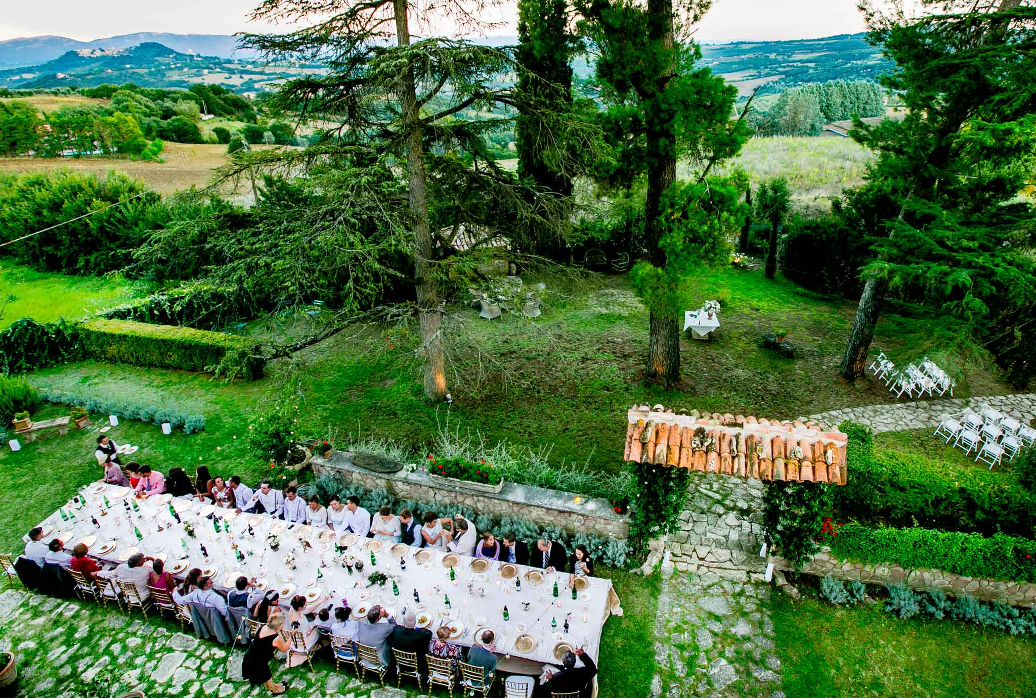 Reception Dinner at Villa Tre Grazie in Umbria Italy near Todi