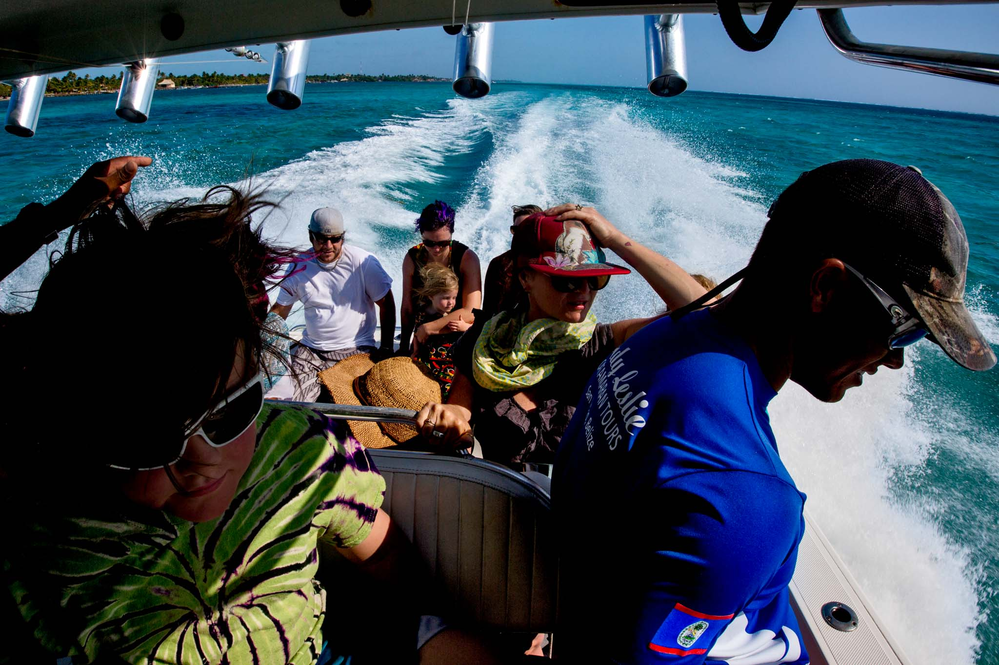 Water taxi to Catamarans from Portofino Beach Resort in Belize