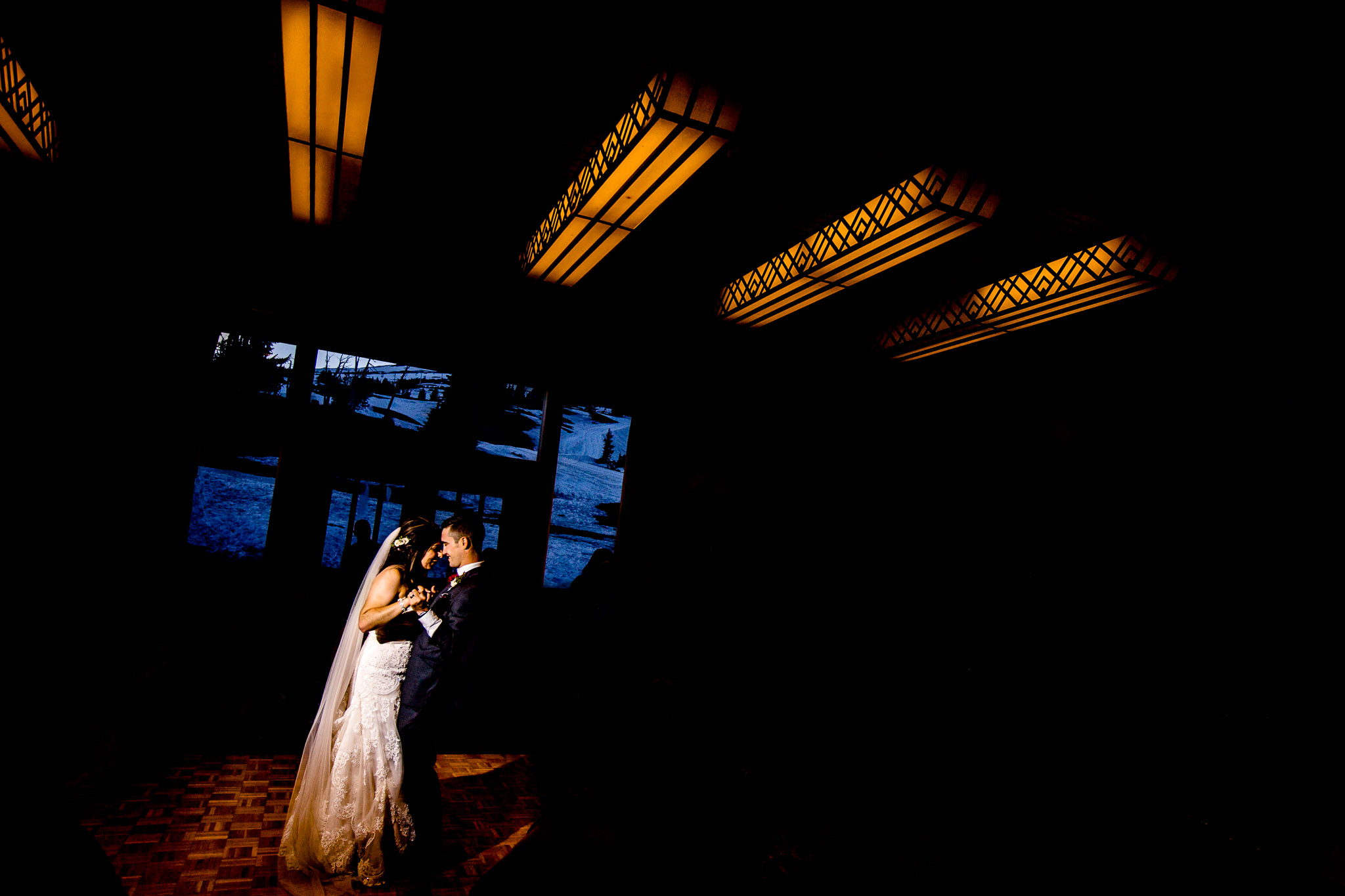 Bride and Groom First Dance at Ulman Hall Timberline Lodge