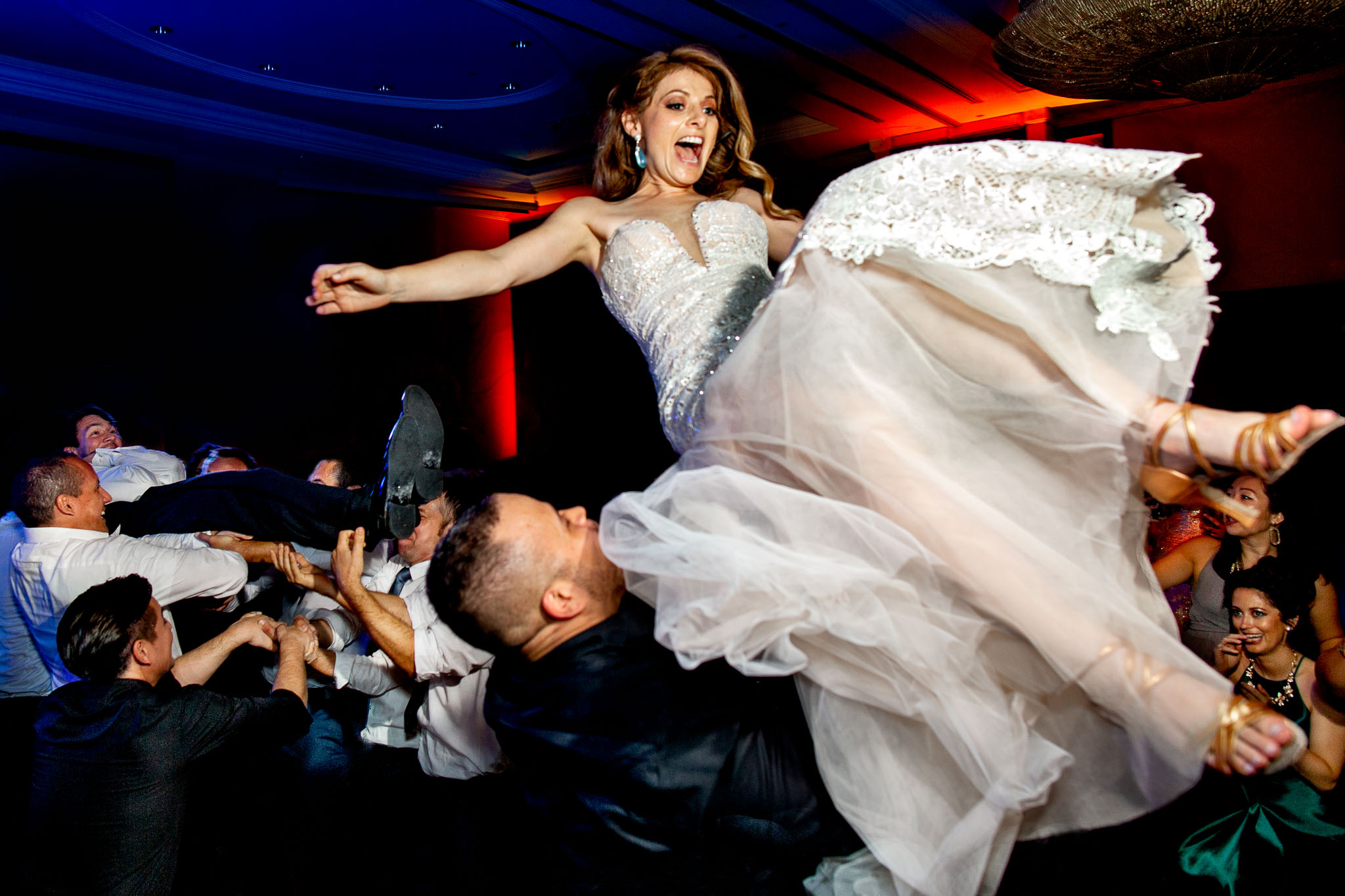 Bride Flying on Dance Floor in Peru near Machu Picchu - JOS studios