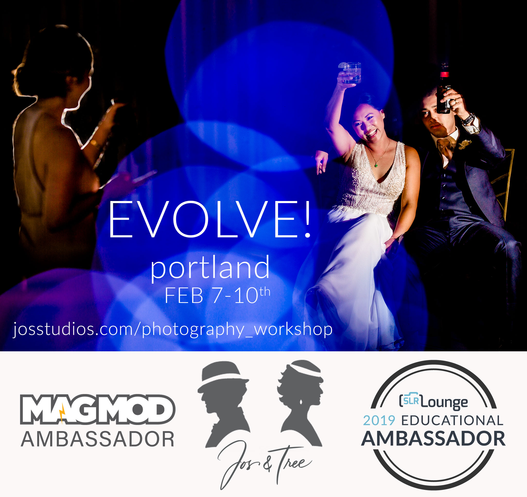 Evolve Photography Workshop for Wedding Photographers in Portland Oregon with Jos and Tree