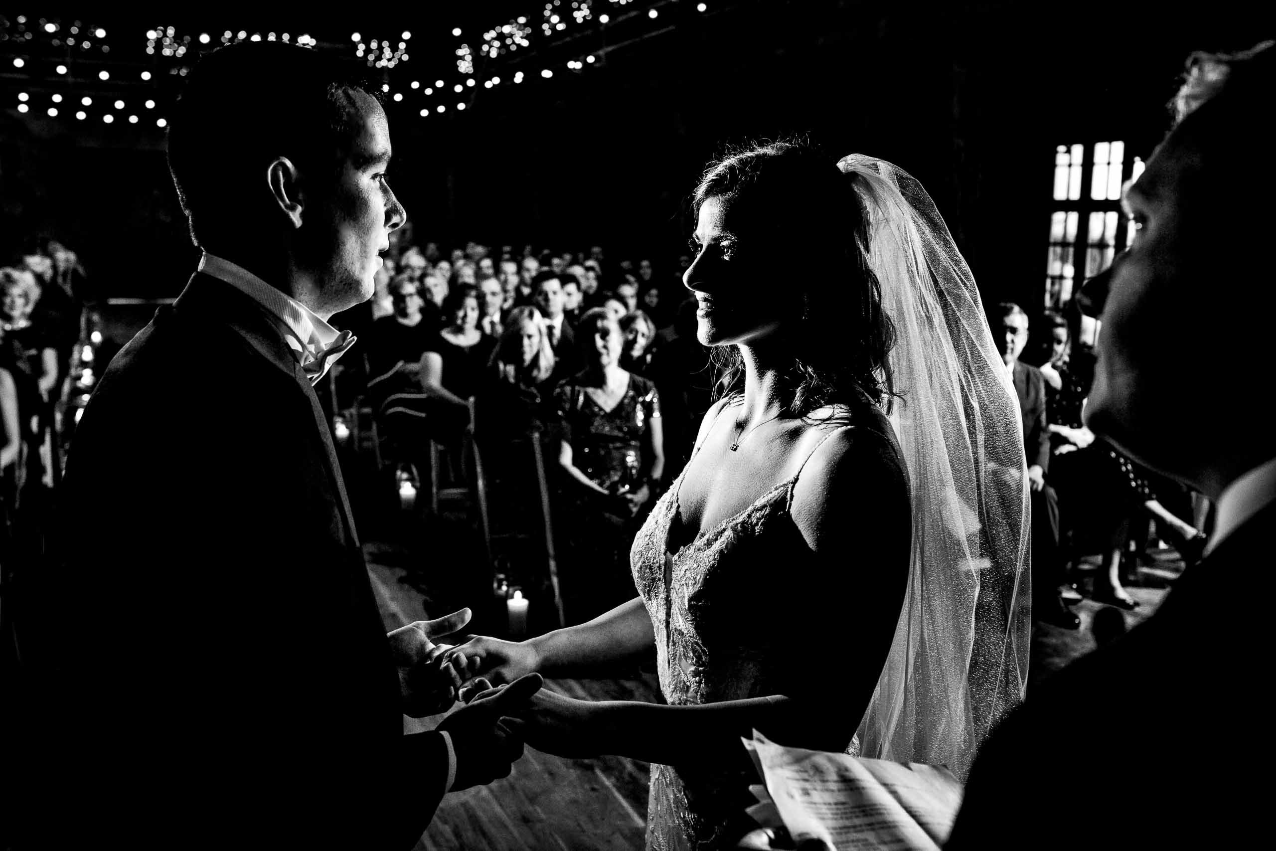 Bride and Groom in ceremony at Sunriver Resort